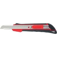 Нож, 9 мм выдвижное лезвие, метал. направляющая, эргоном. двухкомпонентная рукояткаMATRIX
