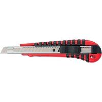 Нож, 9 мм выдвижное лезвие, метал. направляющая, эргономичная двухкомпонентная рукоятка MATRIX