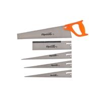 Ножовка по дереву SPARTA, 350 мм, 5 сменных полотен, пластиковая рукоятка