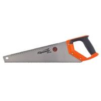 Ножовка по дереву SPARTA, каленый зуб-2D, линейка, двухкомпонентная рукоятка