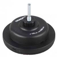 Тарелка опорная URAGAN пластиковая жесткая для дрели под круг на липучке, d 125 мм
