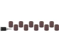 Цилиндр STAYER шлифовальный абразивный, с оправкой, d 18,7мм, Р 80/120, 10шт