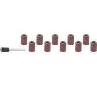 Цилиндр STAYER шлифовальный абразивный, с оправкой, d 6,25мм, Р80/120, 10шт