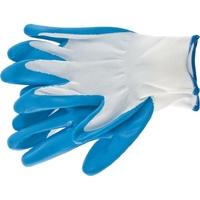 Перчатка с синим нитрильным покрытием, стойкая к маслу и бензину, L, 15 класс вязки Сибртех