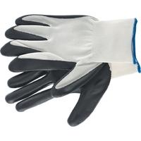 Перчатка с черным нитрильным покрытием, стойкая к маслу и бензину, L, 15 класс вязки Сибртех