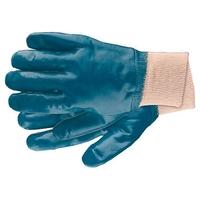 Перчатки рабочие из трикотажа с нитриловым обливом, манжет СИБРТЕХ