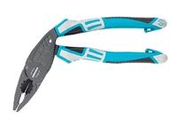 Плоскогубцы GROSS с изогнутой головой, комбинированные, трехкомпонентные рукоятки, 200 мм.