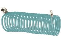 Полиуретановый спиральный шланг профессиональный BASF, с быстросъемными соединениями Stels