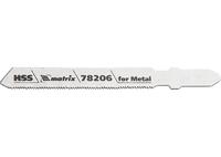 Полотна для электролобзика по металлу, 3 шт. T118G, 50 х 0,8мм, HSS MATRIX Professional