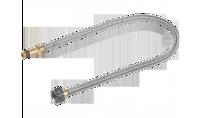"""Подводка ЗУБР """"ЭКСПЕРТ"""" сильфонная из нержавеющей стали, для смесителя, удлиненная, г/ш (гайка-штуце"""