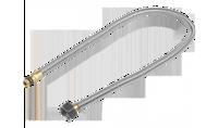 """Подводка ЗУБР """"ЭКСПЕРТ"""" сильфонная из нержавеющей стали, для смесителя, укороченная, г/ш (гайка-штуц"""