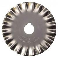 Лезвие OLFA фигурное круговое для RTY-2/G,/DX, малая волна, 45мм