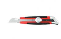 Нож URAGAN с выдвижным сегментированным лезвием, двухкомп корпус, механический фиксатор, инструмента