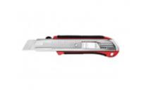 Нож URAGAN с выдвижным сегментированным лезвием, металлический обрезиненный корпус, автостоп, сталь