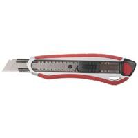 """Нож ЗУБР """"ЭКСПЕРТ"""" с сегментированным лезвием 18 мм, металлический корпус, автоматический фиксатор л"""