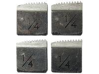 Резцы для клуппов, инструментальная сталь 9XС, комплект 4 шт. SPARTA
