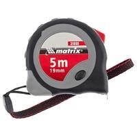 Рулетка MATRIX Continuous fixation, обрезиненный корпус, плавная фиксация