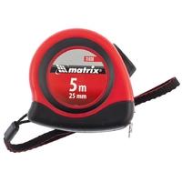 Рулетка MATRIX Status autostop magnet, двухкомпонентный корпус, зацеп с магнитом
