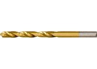 Сверло по металлу, HSS, нитридтитановое покрытие, цилиндрический хвостовик MATRIX