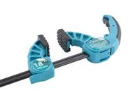 Струбцина реечная быстрозажимная GROSS, пластиковый корпус, рычажный храповый механизм