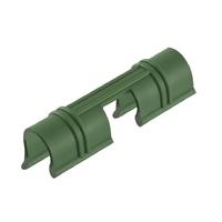 Универсальные зажимы для крепления пленки к каркасу парника d12мм, 20 шт/уп, зеленые PALISAD