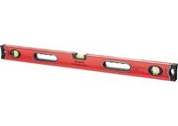 Уровень алюминиевый MATRIX PROFI, 3 глазка, ударопрочные заглушки, двухкомпонентные ручки