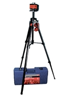 Уровень лазерный MATRIX MASTER, 100 мм, штатив 1300 мм, крутящ. голова ротац., набор в пласт.кейсе