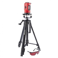 Уровень лазерный MATRIX, 150 мм, штатив 1150 мм, самовырав., набор в пласт.кейсе