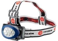 Фонарь налобный, 3 режима, 10 LED, 3хААА Stern