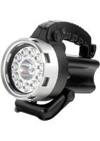 Фонарь поисковый, аккумуляторный, галоген 25 Вт + 11 LED Stern