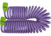 """Шланг спиральный, 7,5 м х 10 мм, пластм. фурнитура (адаптер 1/2-3/4""""+ разбрызгиватель) PALISAD"""