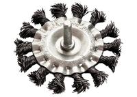 Щетка для дрели, плоская со шпилькой, крученая металлическая проволока MATRIX