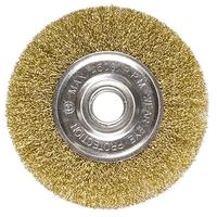 Щетки для УШМ плоские, посадка 22,2 мм, латунированная витая проволока MATRIX
