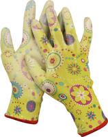 Перчатки GRINDA садовые, прозрачное PU покрытие