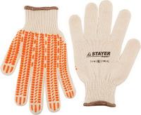 """Перчатки STAYER """"EXPERT"""" трикотажные с защитой от скольжения, 10 класс, х/б"""