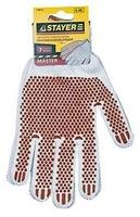 """Перчатки STAYER """"МASTER"""" трикотажные, 7 класс, х/б, с защитой от скольжения"""