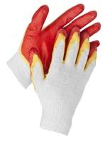 """Перчатки STAYER """"МASTER"""" трикотажные, двойная обливная ладонь из латекса, х/б, 13 класс"""