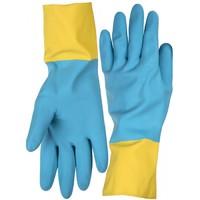 Перчатки STAYER латексные с неопреновым покрытием, экстрастойкие, с х/б напылением
