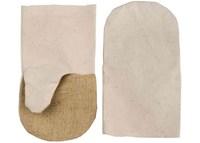 Рукавицы хлопчатобумажные с брезентовым наладонником, XL