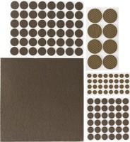 """Набор STAYER """"COMFORT"""": Накладки самоклеящиеся на мебельные ножки, 125 шт, коричневые"""