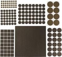 """Набор STAYER """"COMFORT"""": Накладки самоклеящиеся на мебельные ножки, 175 шт, коричневые"""