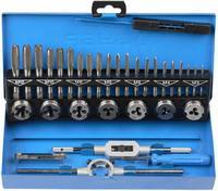 """Набор ЗУБР """"ЭКСПЕРТ"""" с метал.реж. инстр., метчики комплект. из 3-х штук и плашки М3-М12, оснастка-в"""