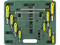 """Набор KRAFTOOL Ключи """"INDUSTRIE"""" имбусовые,Cr-Mo(S2),Т-образные,HEX,с шариком,9 шт,в боксе"""