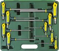 """Набор KRAFTOOL Ключи """"INDUSTRIE"""" имбусовые,Cr-Mo(S2),Т-образные,TORX Hole 10-50,9 шт,в боксе"""