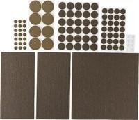 """Набор STAYER """"COMFORT"""": Накладки самоклеящиеся на мебельные ножки, 98 шт, коричневые"""