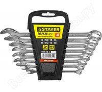 """Набор: Ключ STAYER """"MASTER"""" гаечный комбинированный, хромированный, 8-19 мм, 8 шт"""