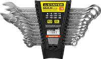 """Набор: Ключ STAYER """"MASTER"""" гаечный комбинированный, хромированный, 8-24 мм, 12 шт"""