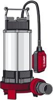 Насос ЗУБР фекальный погружной, 1500 Вт, пропускная способность 380 л/мин, напор 15 м,чугунный корп