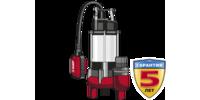 Насос ЗУБР фекальный погружной, 750 Вт, пропускная способность 310 л/мин, напор 14 м, чугунный корп