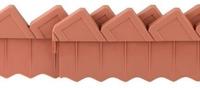 Ограждение для клумб GRINDA, 288см, цвет коричневый
